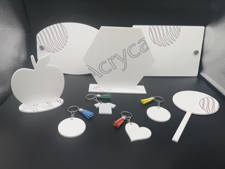 WHITE acrylic sample / starter box