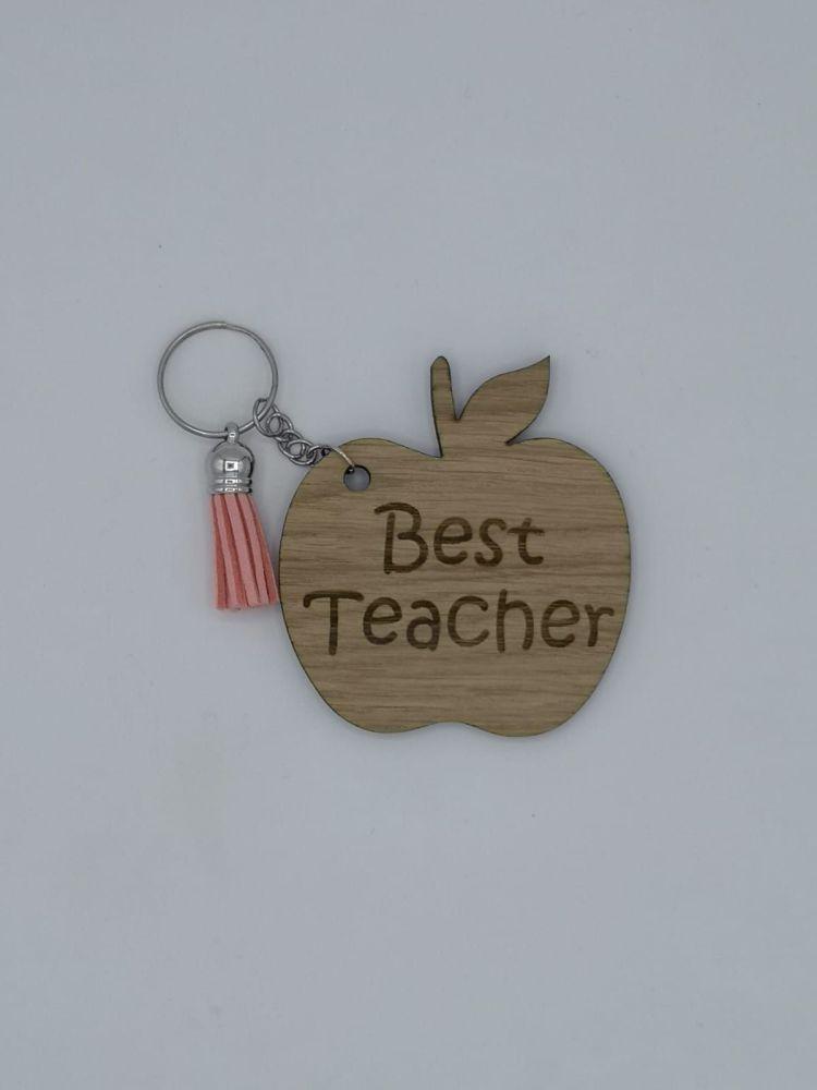 Best Teacher Keyring - Apple Shape