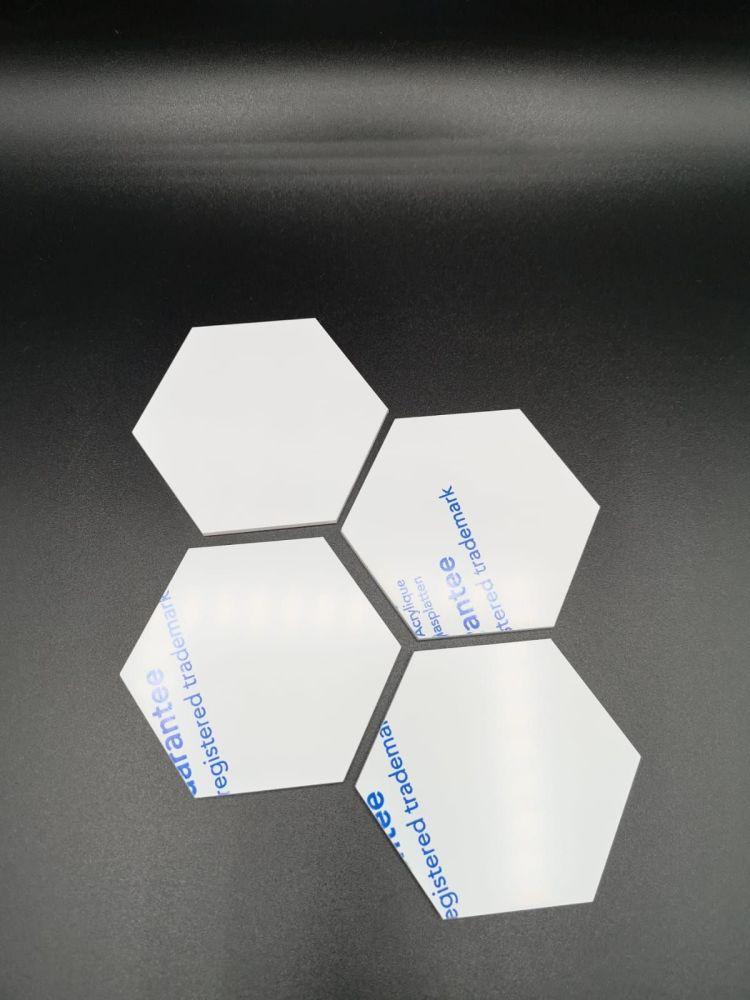 8cm Acrylic Hexagon - Clear