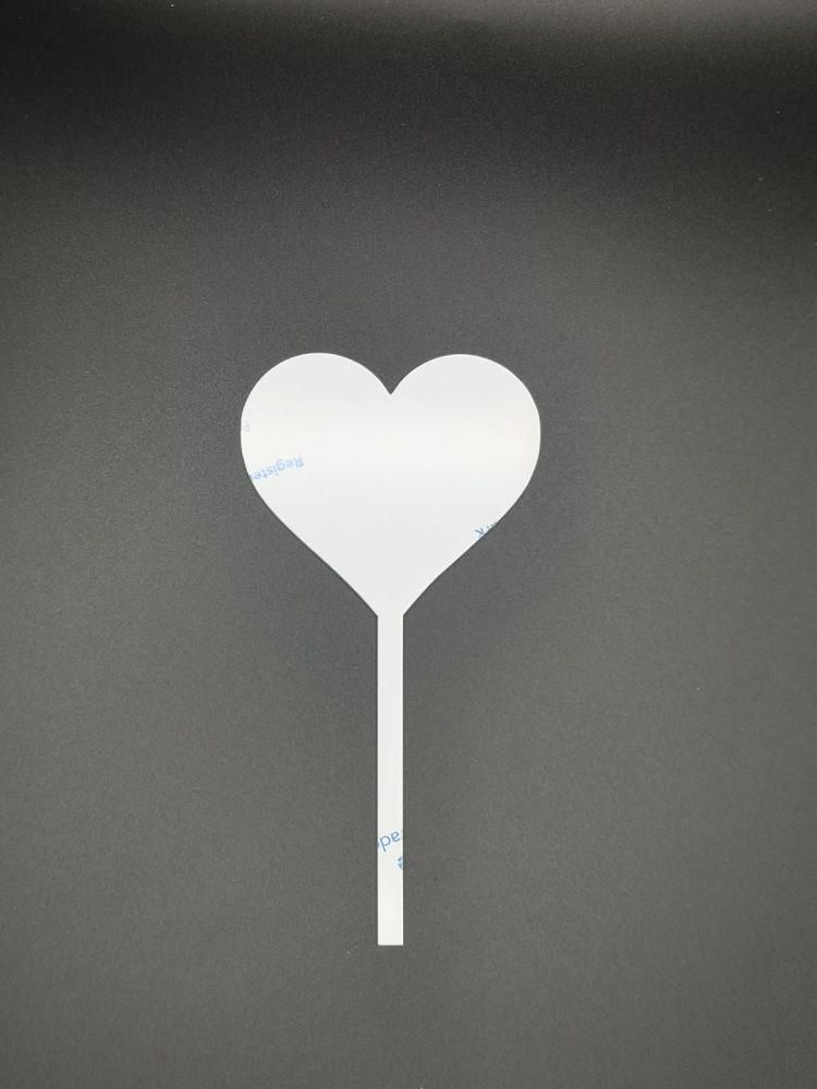 10cm Heart Cake Topper