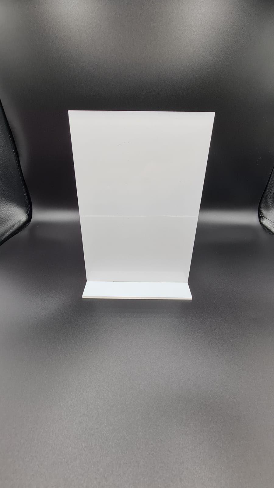 Freestanding Acrylic Rectangle - A4 (Portrait)