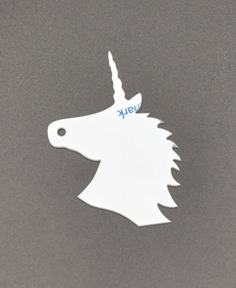 Clear Acrylic Unicorn Keyring