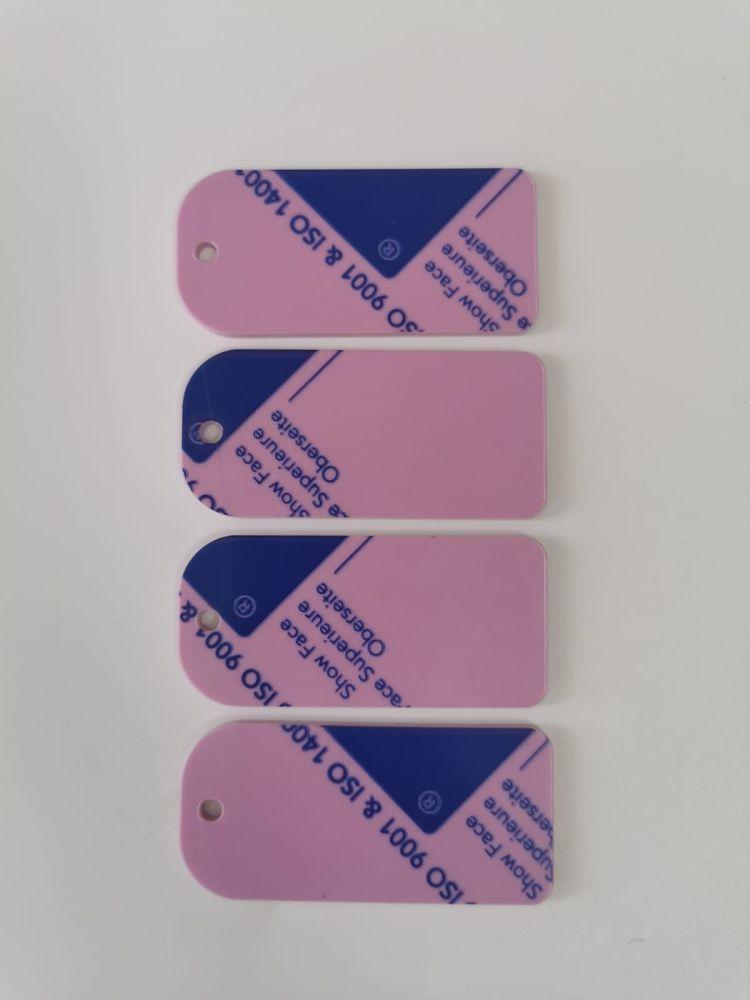 Pastel Pink Keyring Blank