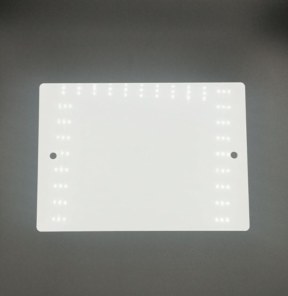 A5 Acrylic Landscape Plaque with 2 holes  - 16 Pack - Clear, White, Frosted, Black, Silver Mirror