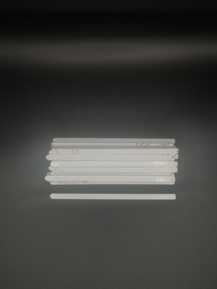 200mm x 8mm clear Acrylic Cake Topper Sticks - Pack of 50