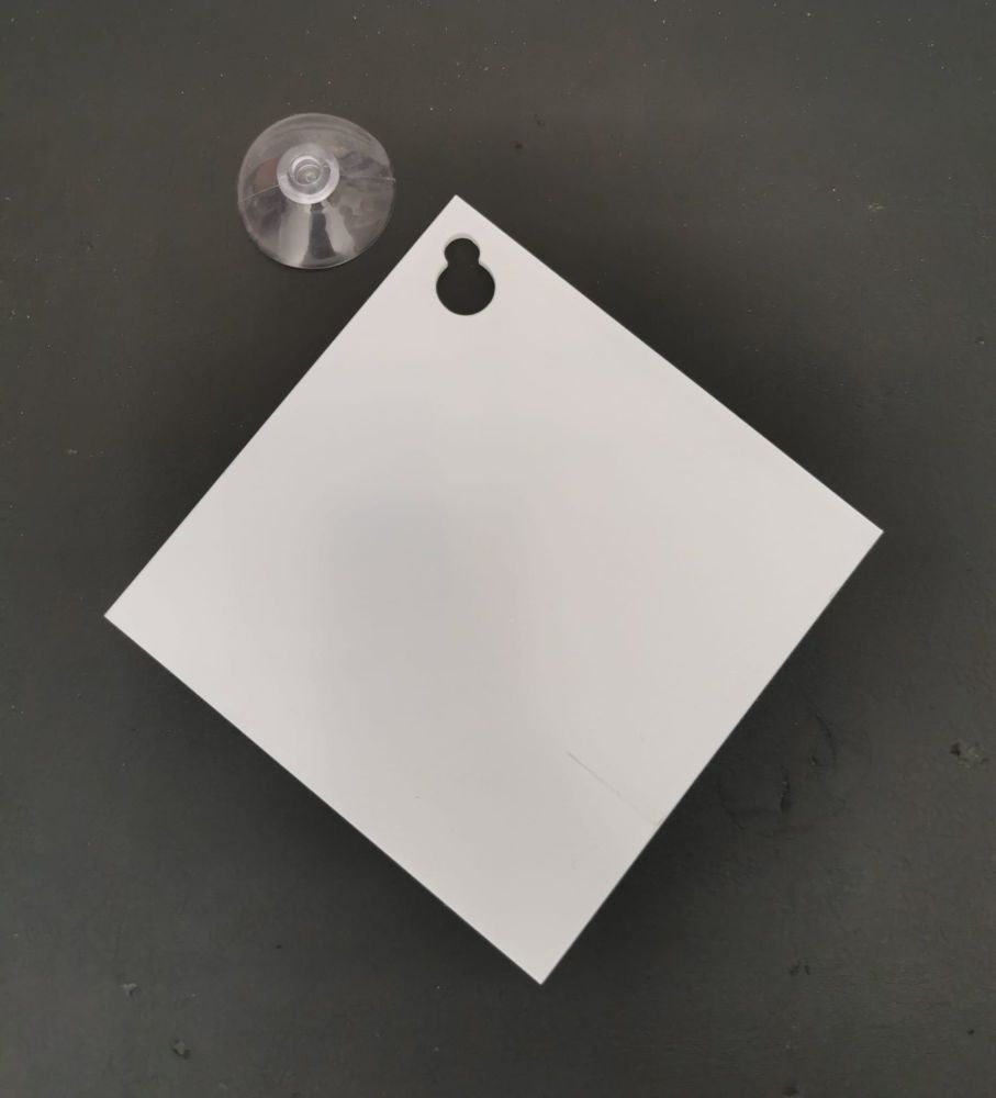 Clear Acrylic Window Sign with Suction Cup