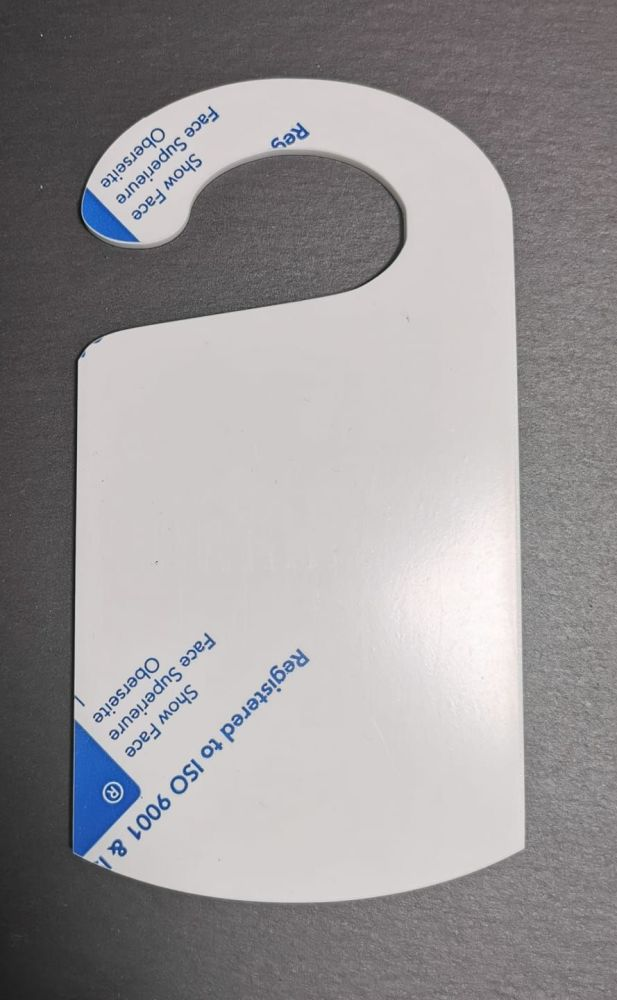 Frosted Acrylic Door hanger - 18.5x10cm - Various Pack Sizes