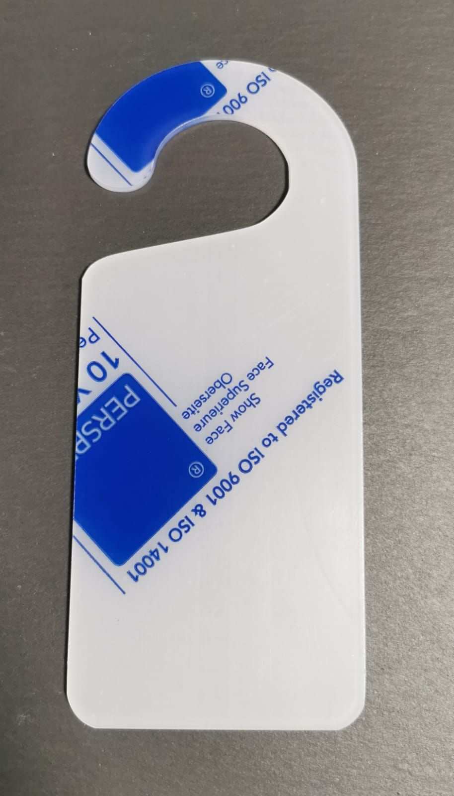 Frosted Acrylic Door Hanger - 20x8.5cm - Various Pack Sizes