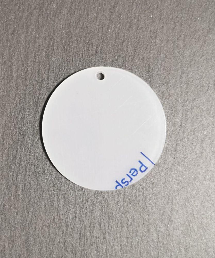 Round White Blank Acrylic Keyrings