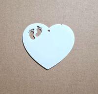 Acrylic Heart Christmas Bauble Blank