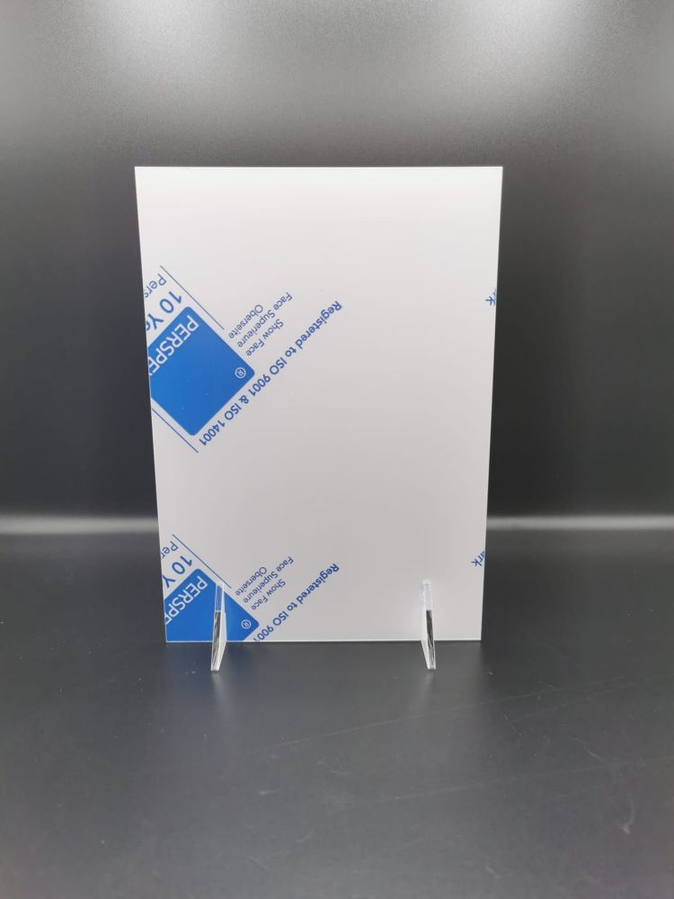A3 white plaque with stands - pack of 1, 6 or 15