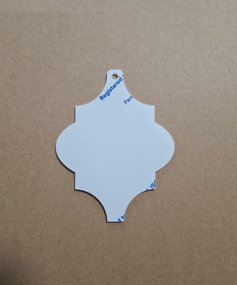 Acrylic Arabesque Christmas Bauble Blank - Pack of 8