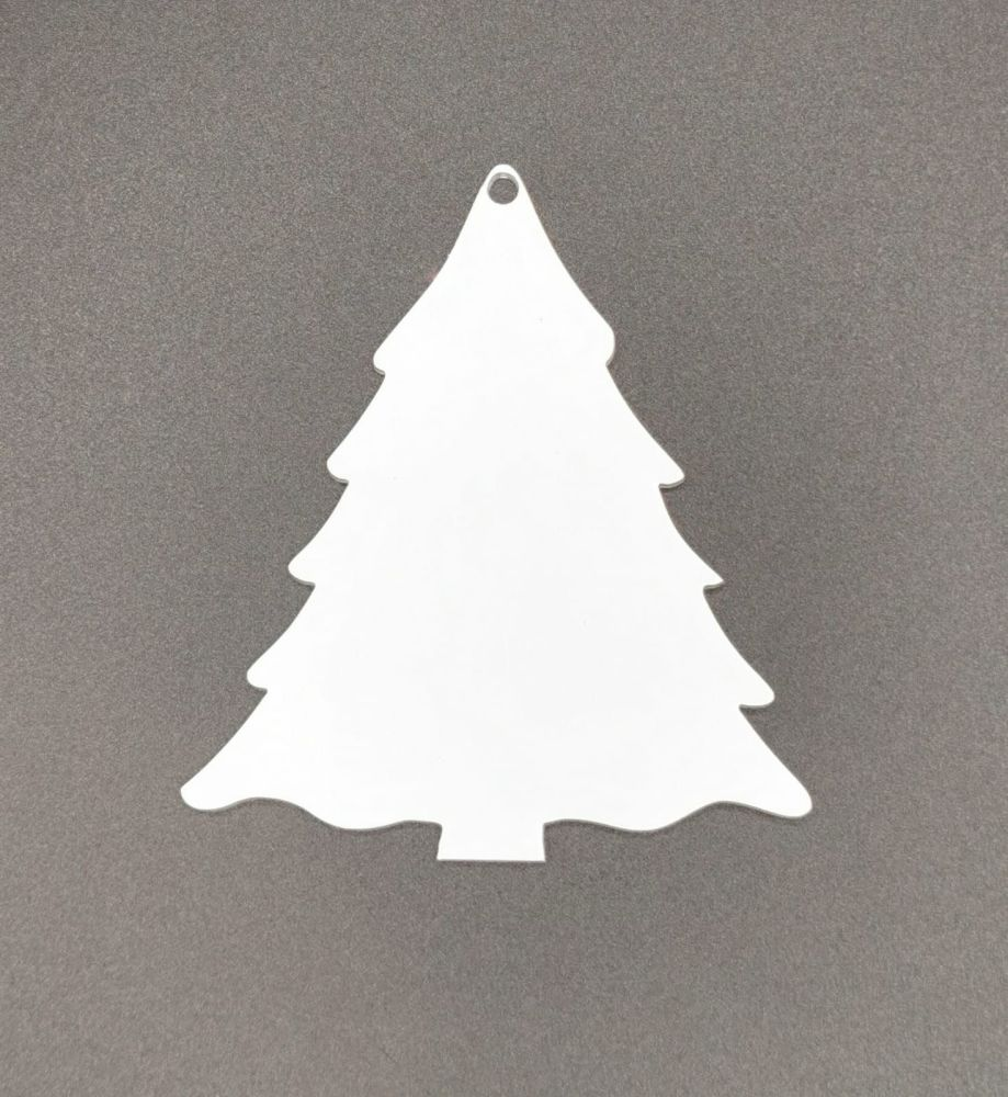 Acrylic Christmas Tree Bauble - Pack of 15