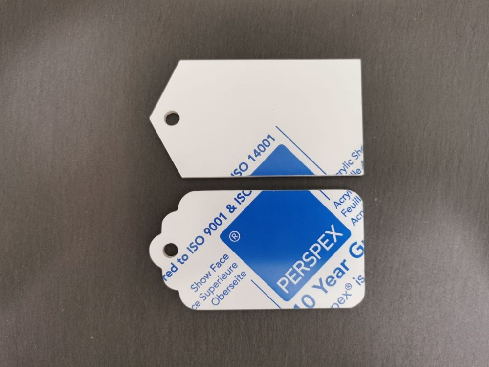 Frosted Acrylic Gift Tags