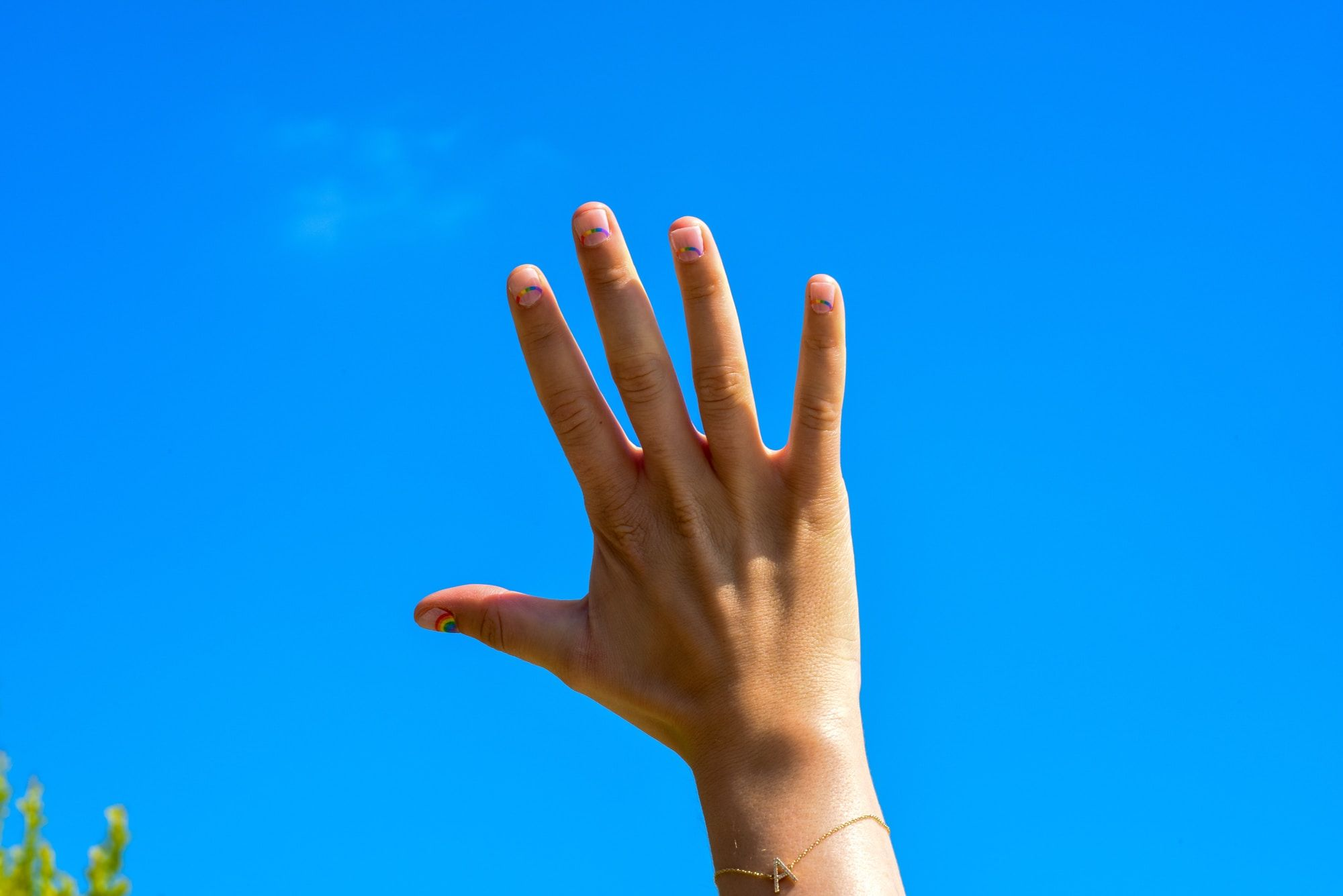 Raised hand image