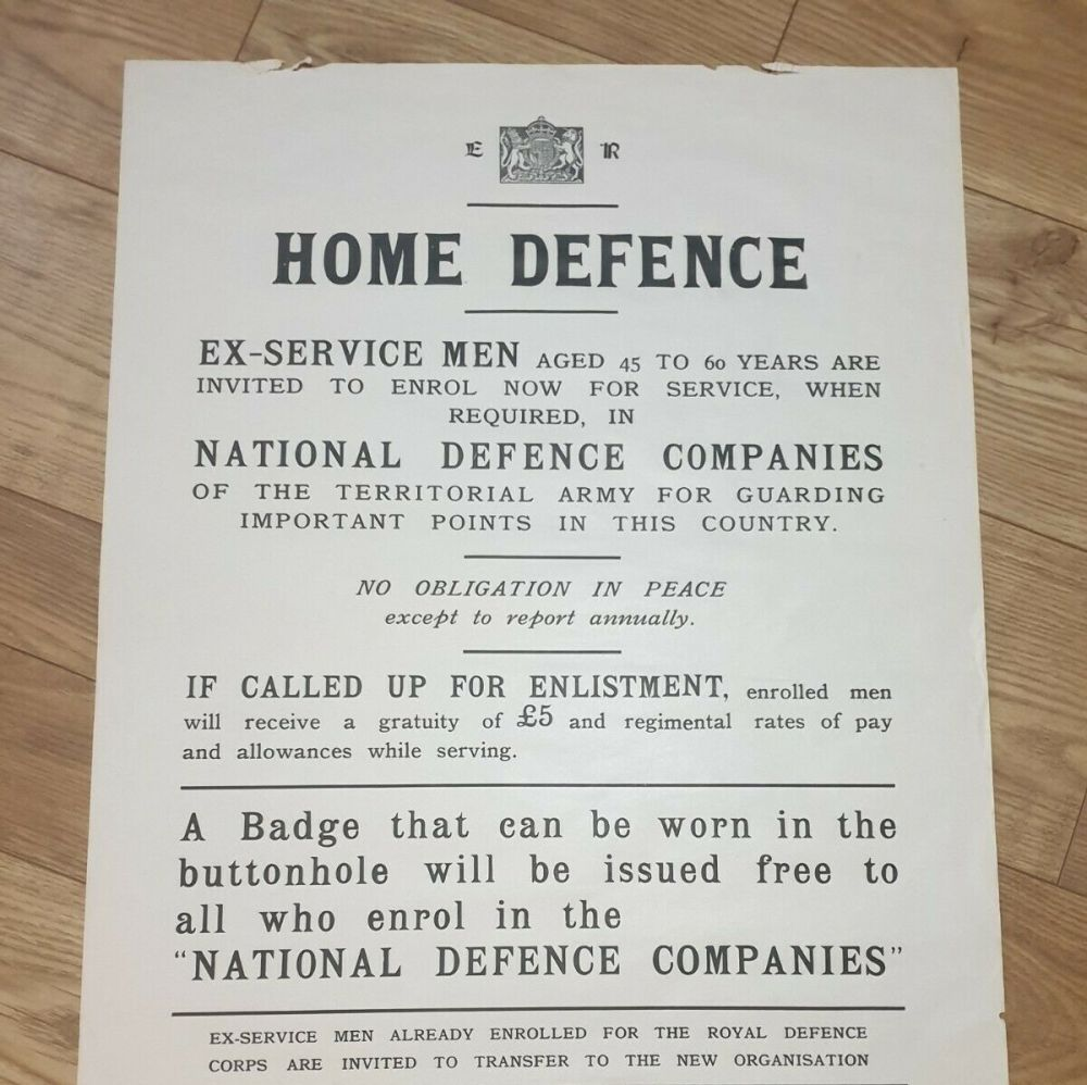 ARMY RECRUITMENT POSTER for the NATIONAL DEFENCE COMPANY - Original
