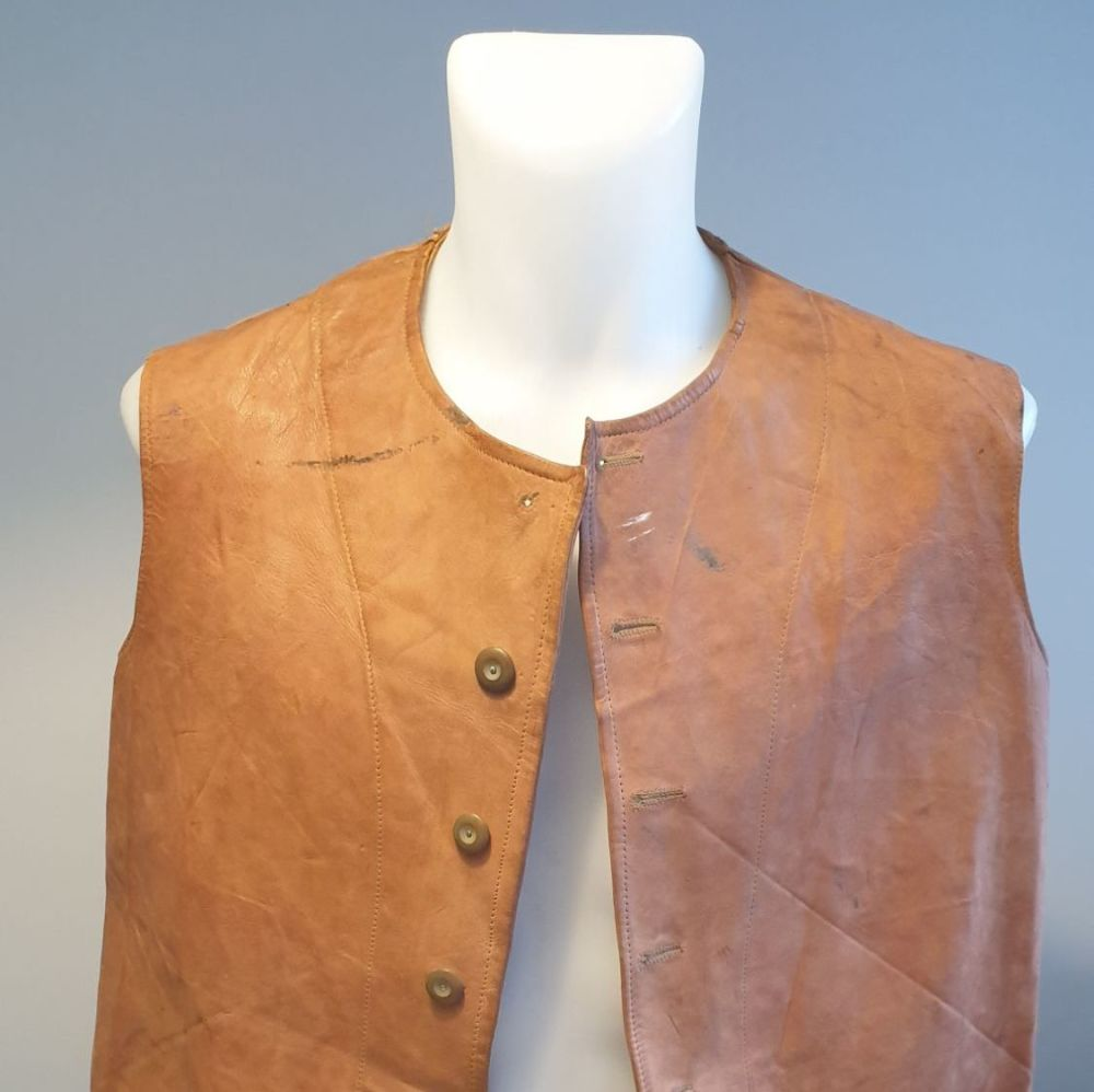 WW2 dated British LEATHER JERKIN Indian manufactured version