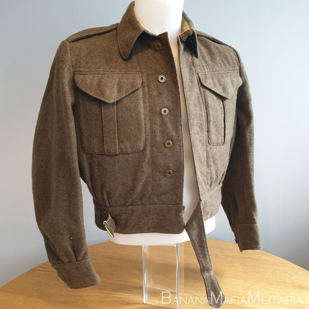 Original WW2 CANADIAN BATTELDRESS battle dress BLOUSE 1944