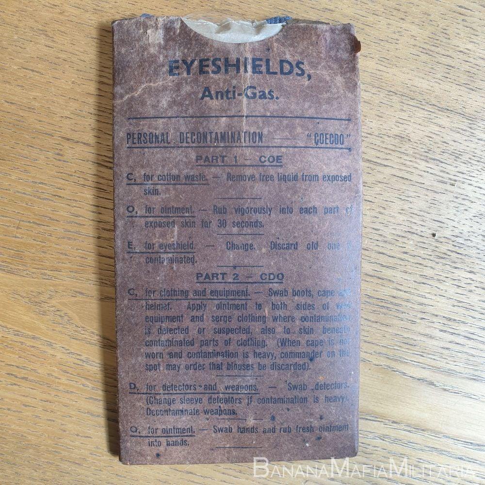 WW2 Eyeshields Anti-Gas 1942