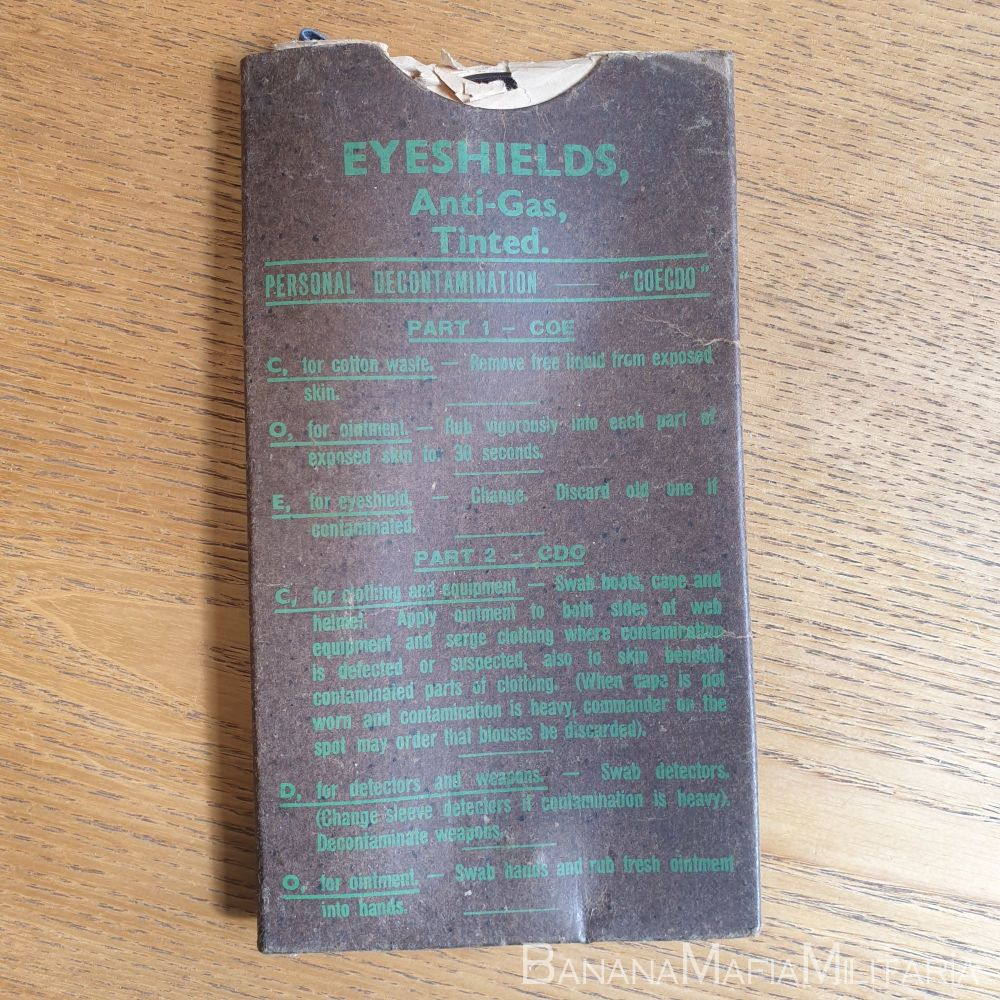 WW2 Eyeshields Anti-Gas TINTED 1944