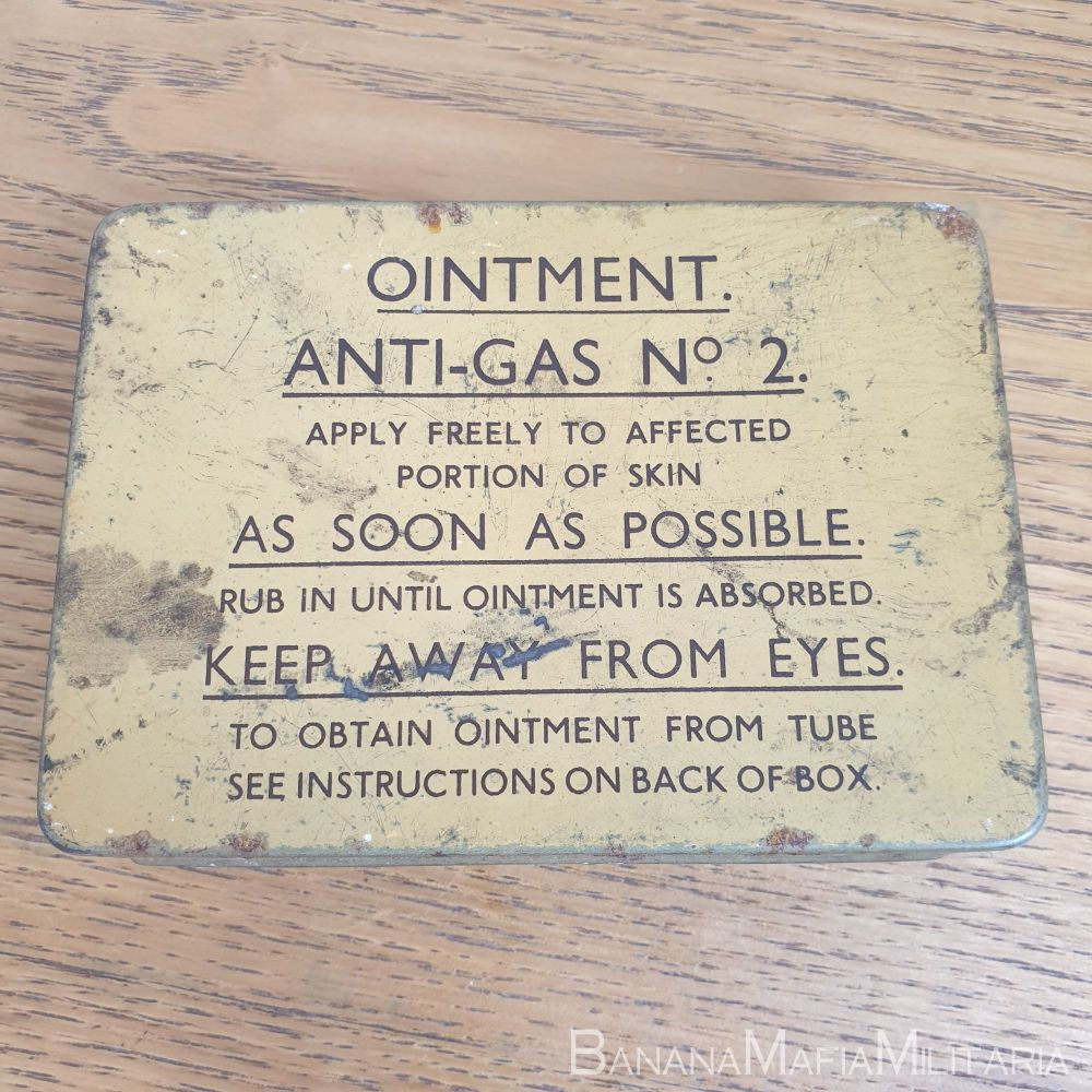 Ointment Anti-Gas Tin No2 1939 dated COMPLETE