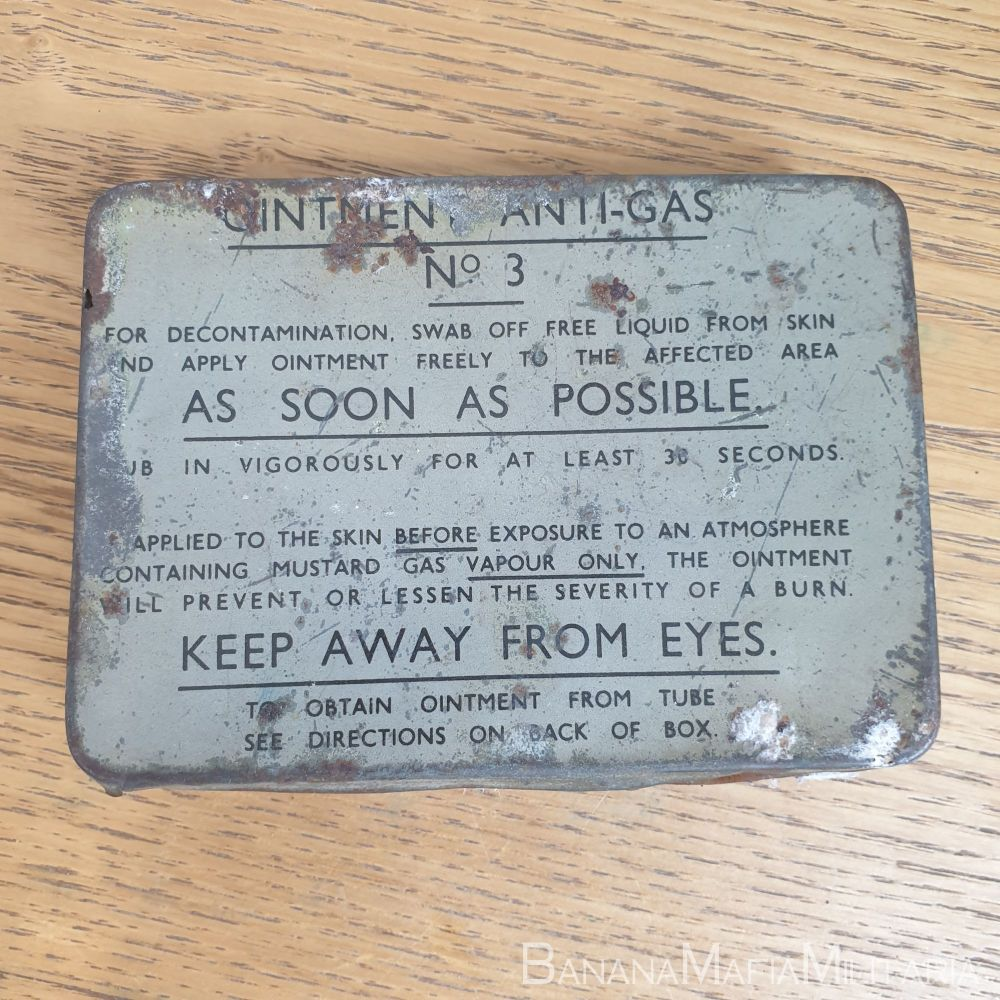 Ointment Anti-Gas Tin No3 1941 dated COMPLETE -semi relic