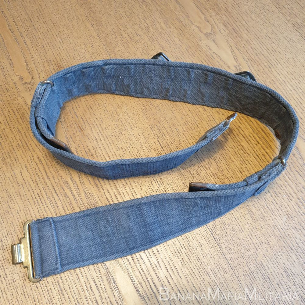early WW2 BRITISH RAF 1925 pattern '25 Patt webbing belt Brass fittings 194