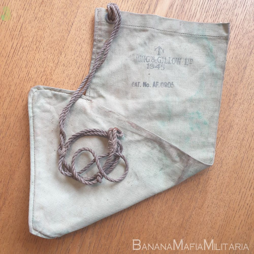 WW2 British Army Issue - WATER PURIFICATION CANVAS FILTER BAG