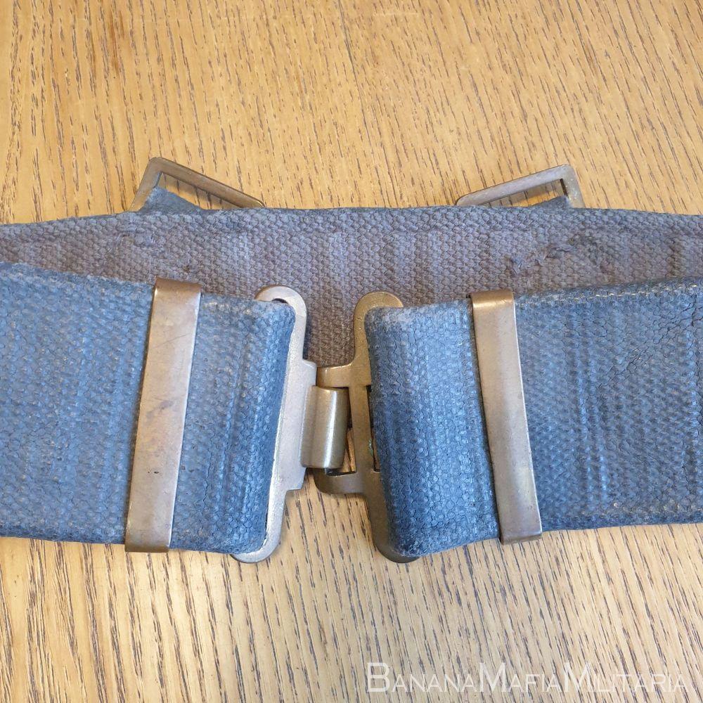 WW2 BRITISH RAF 1937 pattern '37 Patt webbing belt Brass fittings
