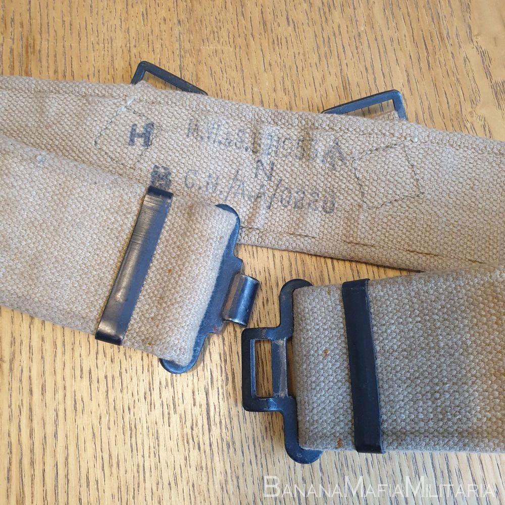 WW2 - Korean war British Army 1937 pattern '37 Patt webbing belt 1953 dated