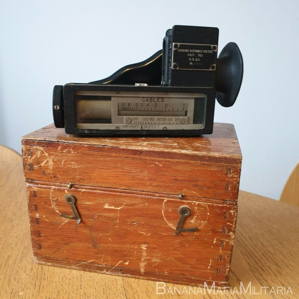 WWII MARINE DISTANCE METER PATT. 703 HH&S - ROYAL AND MERCHANT NAVY