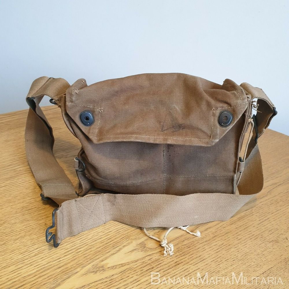 WW1 Gas Mask carrier bag ORIGINAL American Dated 1918