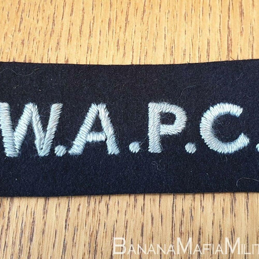 Original British WW2 - WAPC Womans Auxillery Police Corps, shoulder badge