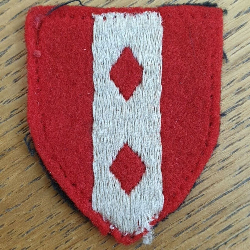 BRITISH 2ND INFANTRY BRIGADE EMBROIDERED CLOTH FORMATION BADGE