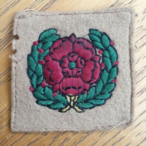 BADGE, FORMATION, LANCASTRIAN TRAINING BRIGADE EMBROIDERED