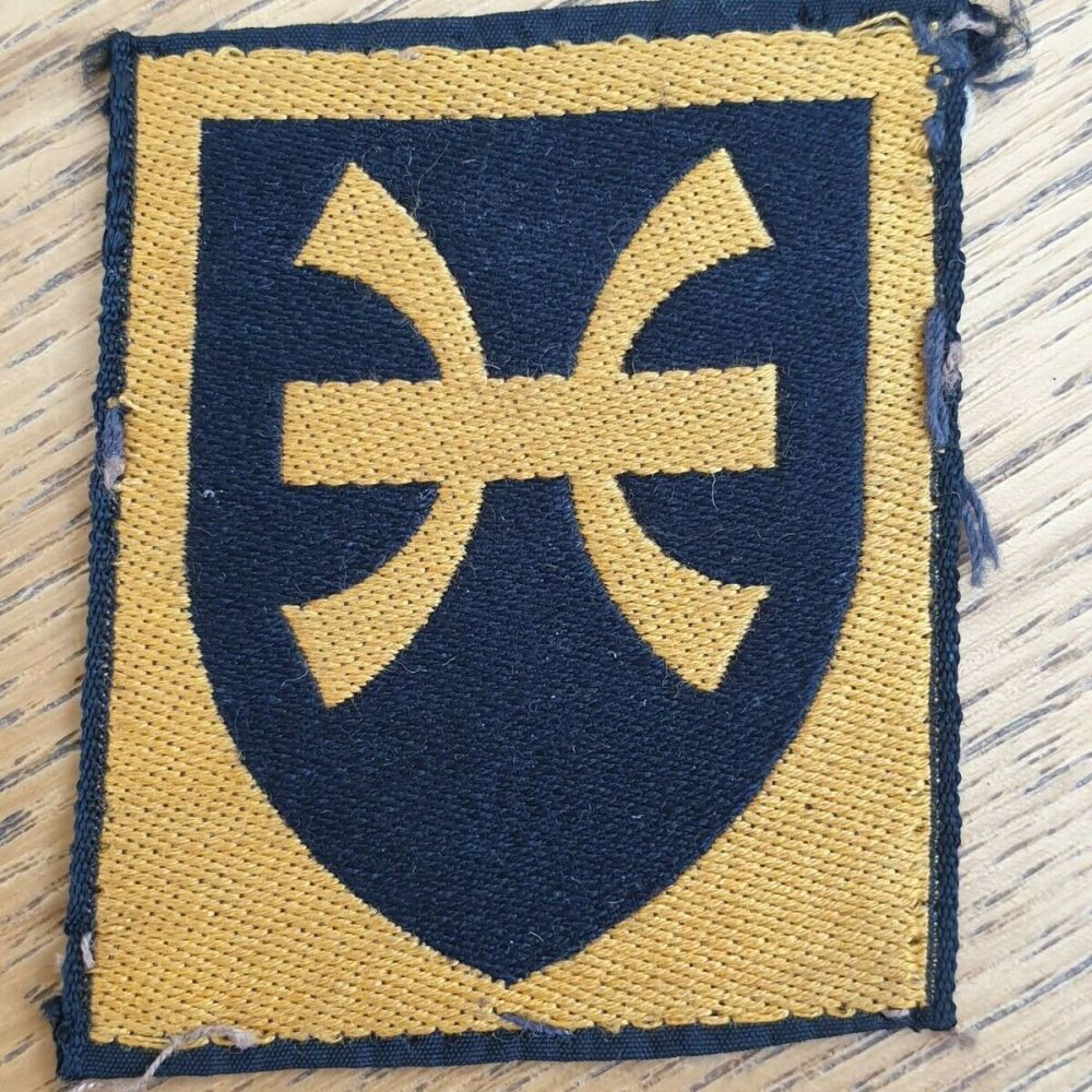 BRITISH 12TH INFANTRY BRIGADE EMBROIDERED CLOTH FORMATION BADGE