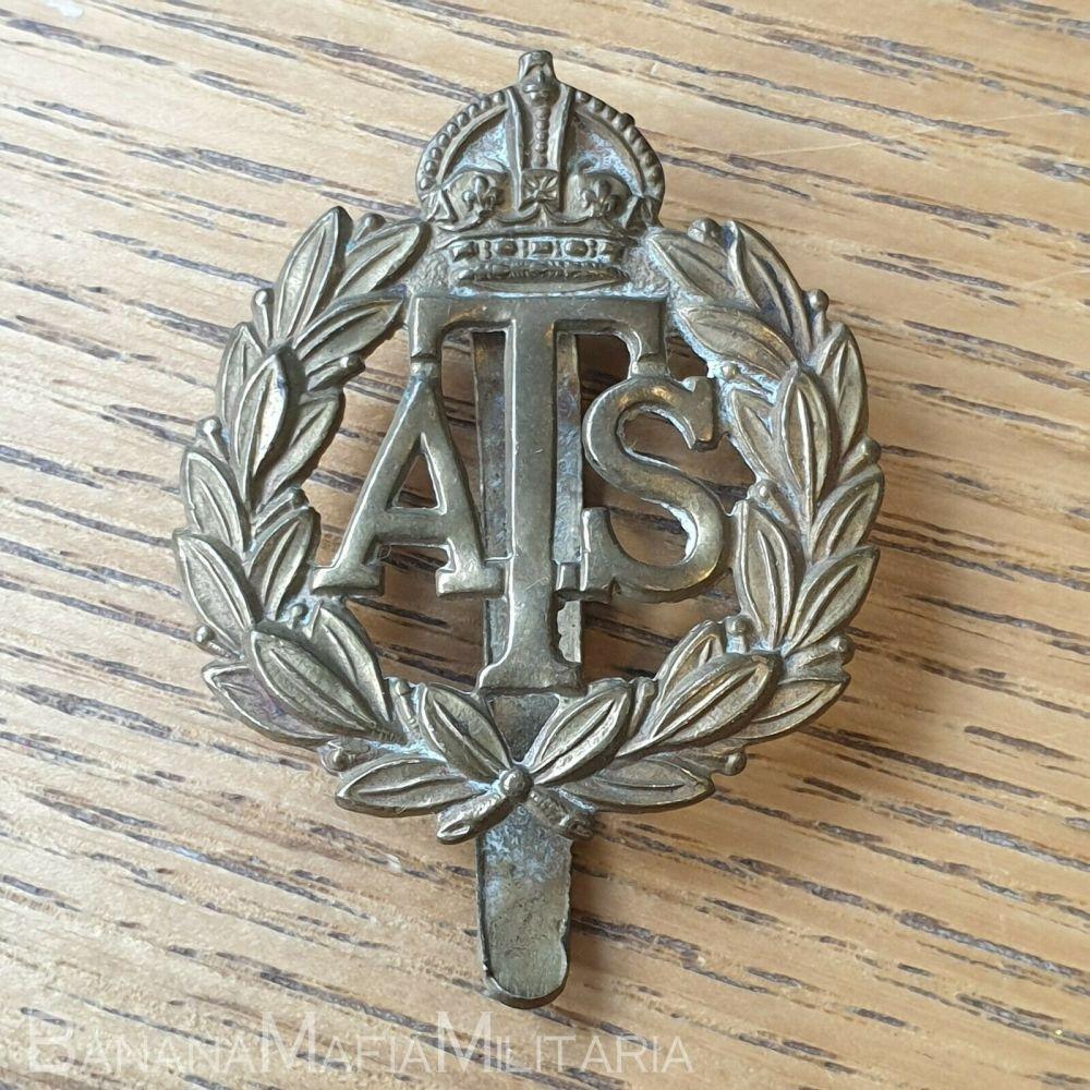 BRITISH WW2 ATS CAP BADGE - AUXILIARY TERRITORIAL SERVICE