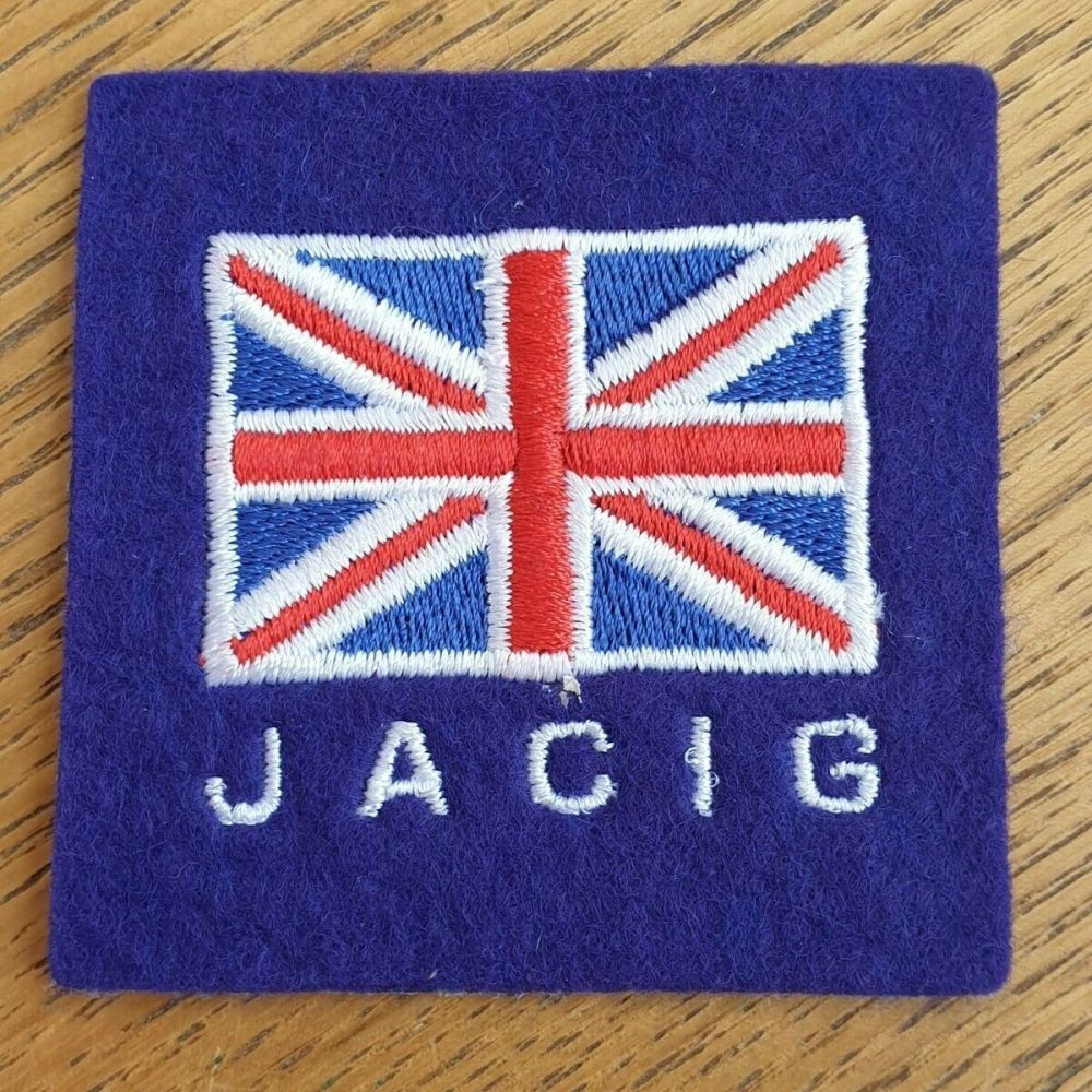 BADGE, FORMATION, BRITISH, JOINT ARMS CONTROL IMPLEMENTATION GROUP (JACIG)