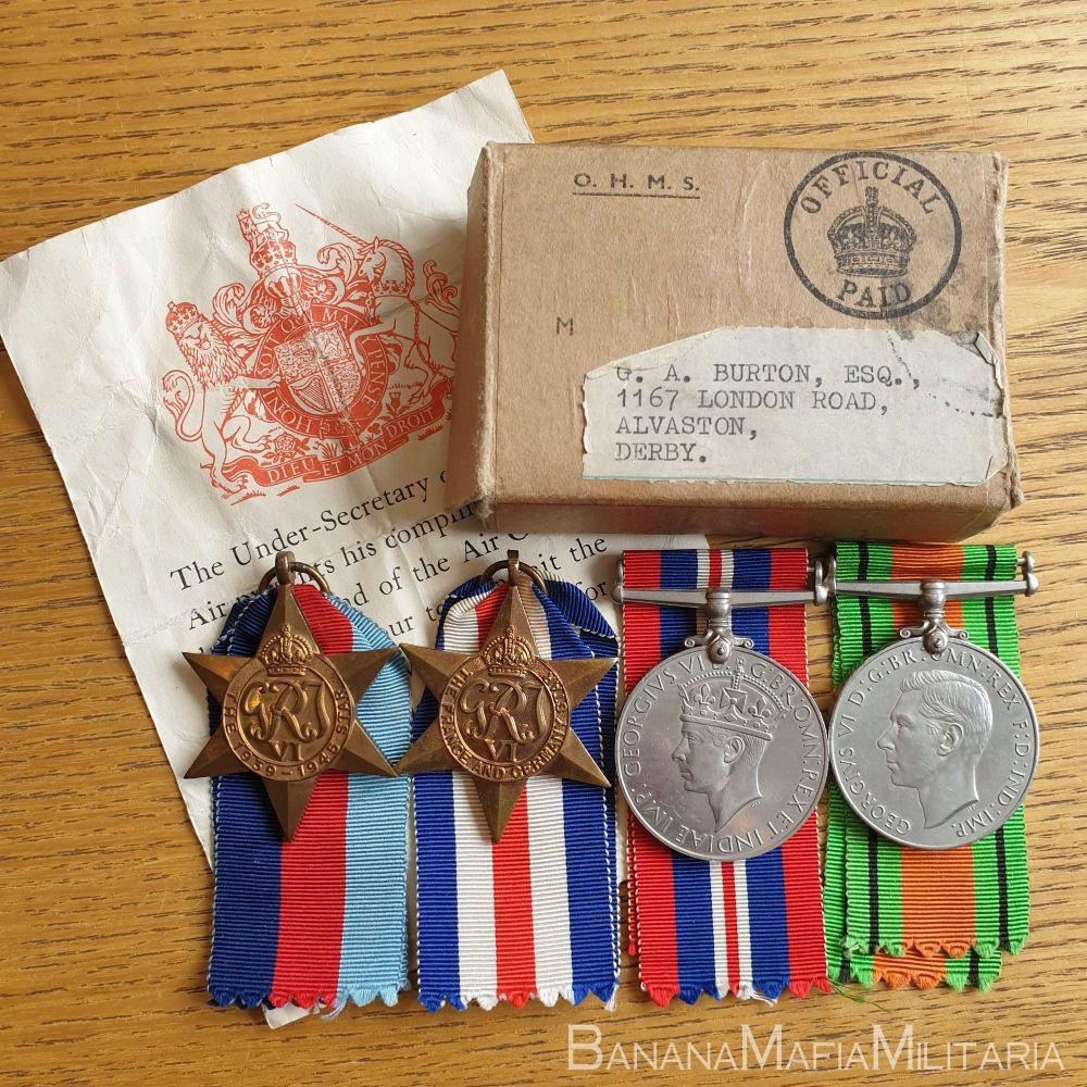British WW2 Medal Group - Gordon A Burton RAF