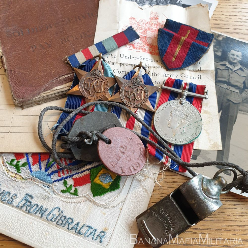British WW2 Medal Group & Documents -  W/CPL (War) Corporal Alfred Reid - P