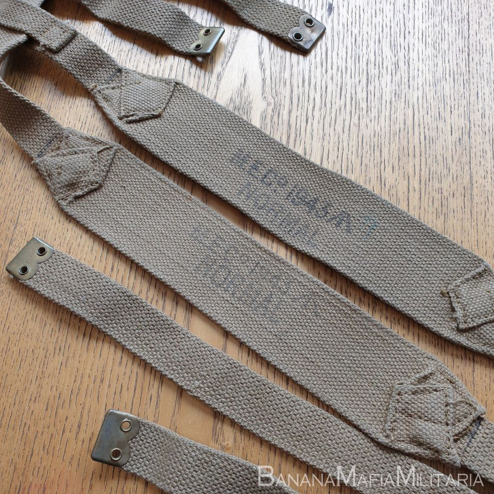 patt '37 pattern webbing  - British WW2 Pair of Shoulder Brace straps MECo