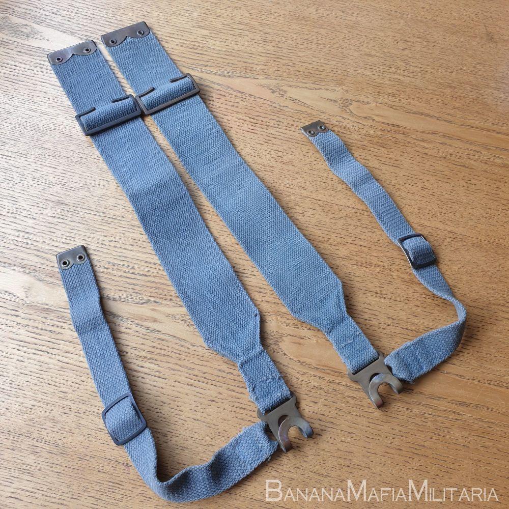 patt '37 pattern webbing  - British WW2 Pair of haversack shoulder L strap