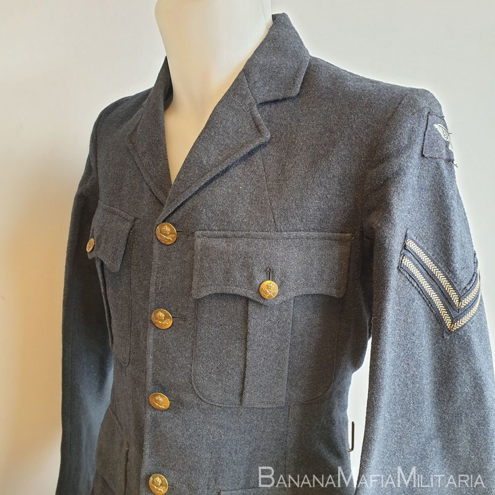 WW2 Type - RAF Service Dress Jacket, OA 1950 dated and badged