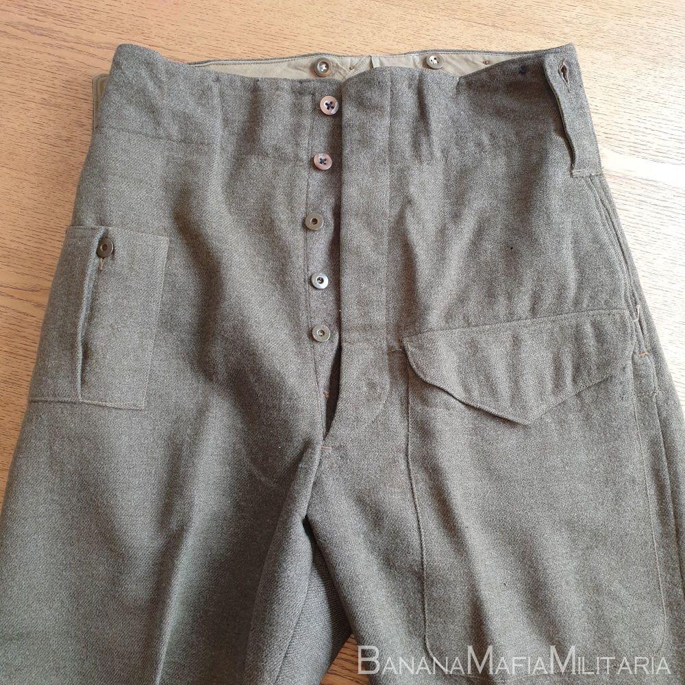 Original WW2 Canadian Army BD Battle dress  serge Trousers - 1945 dated LAR