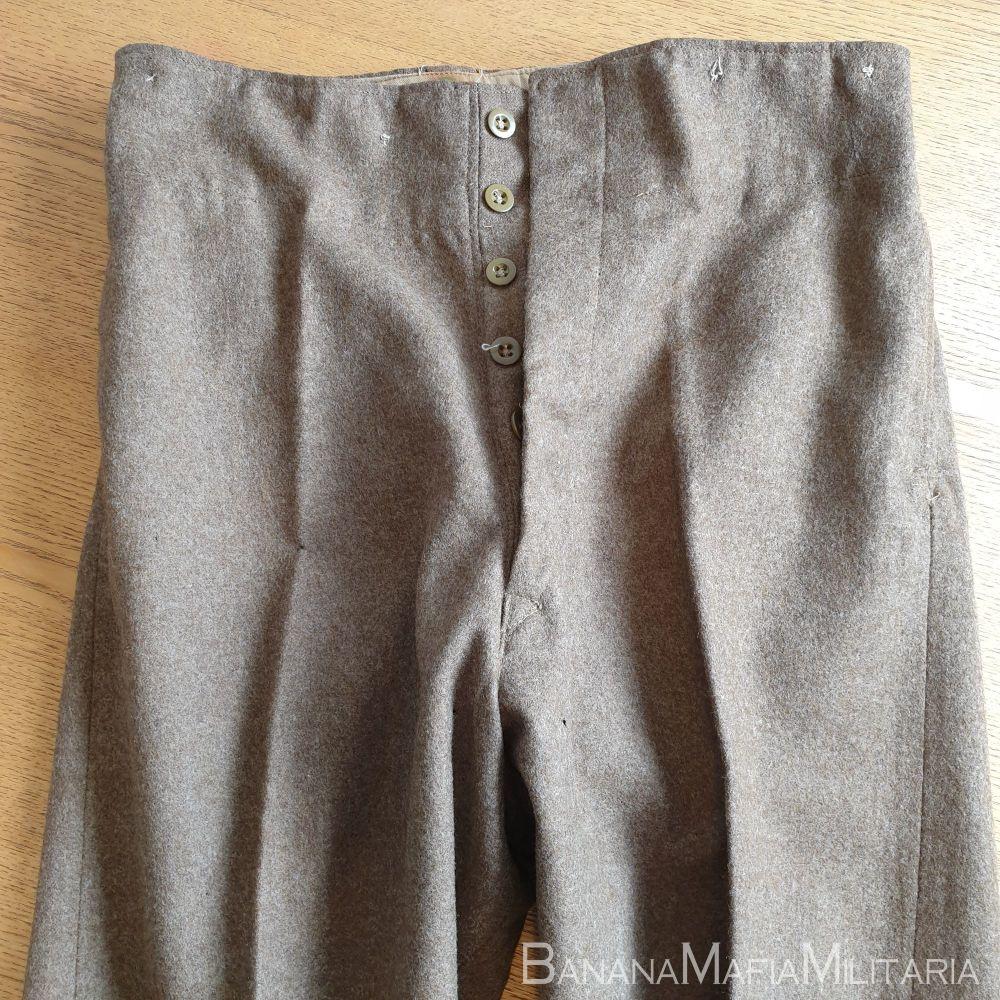 Original WW2  Army BD service dress  serge Trousers - 1945 dated LARGE sized