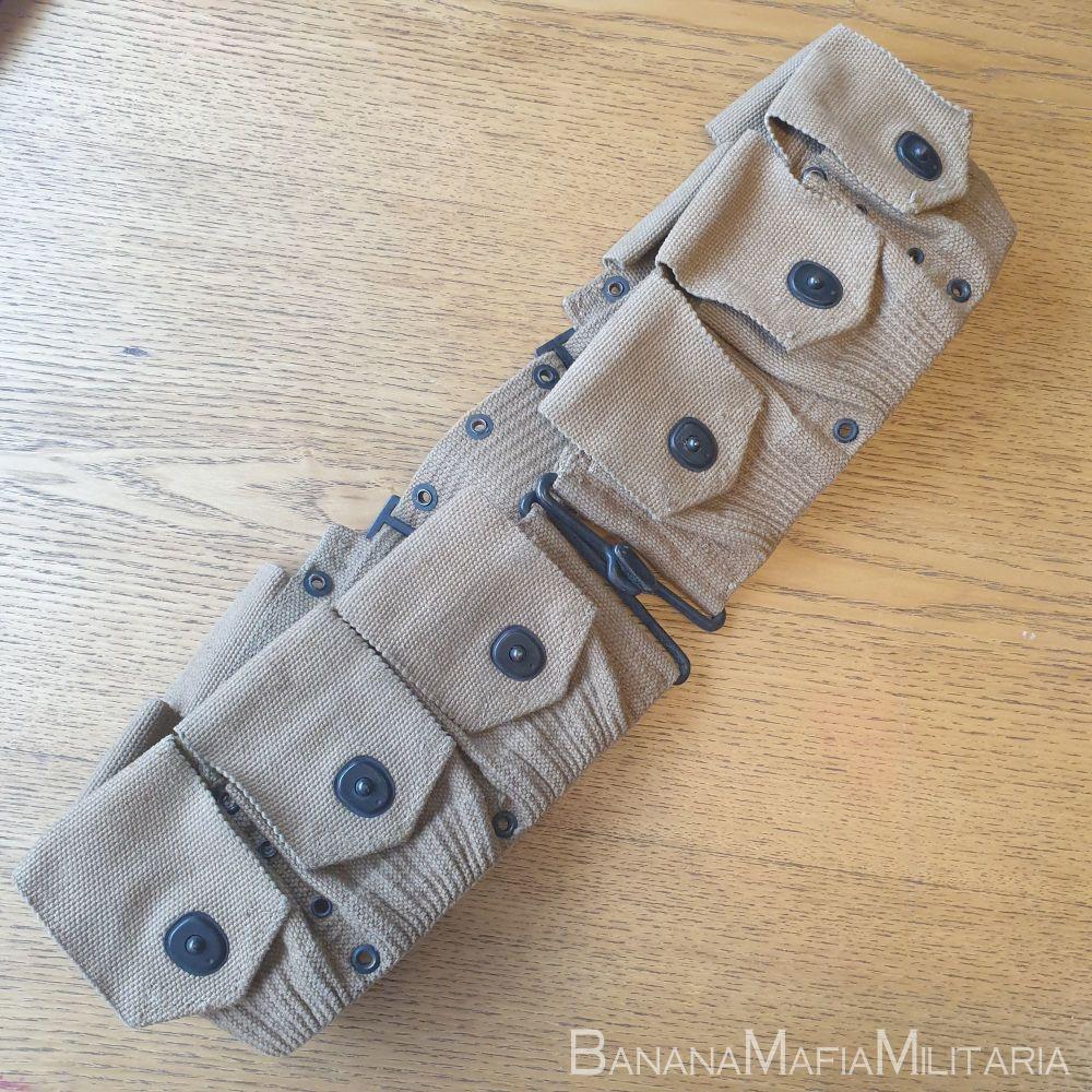 Original US M1910 WWI Mills Ammo Belt Cartridge Pouches 1918 Dated