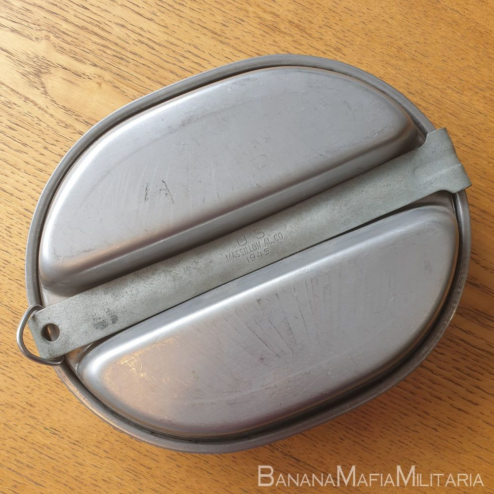 """Us Army WW2  Mess tin. 1945 dated """"Meat can"""""""