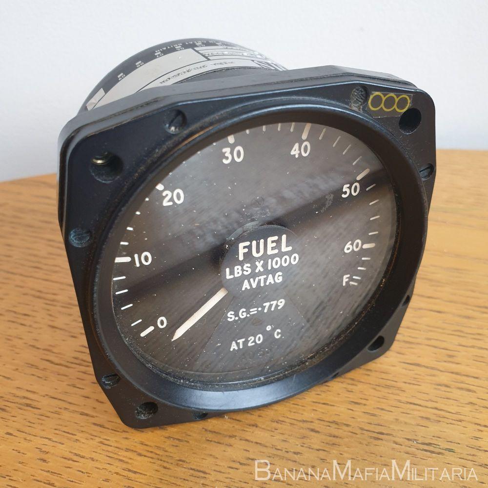 RAF Bomber Aircraft Fuel Quantity indicator Gauge Lbs X 1000 AVTAG SMITHS