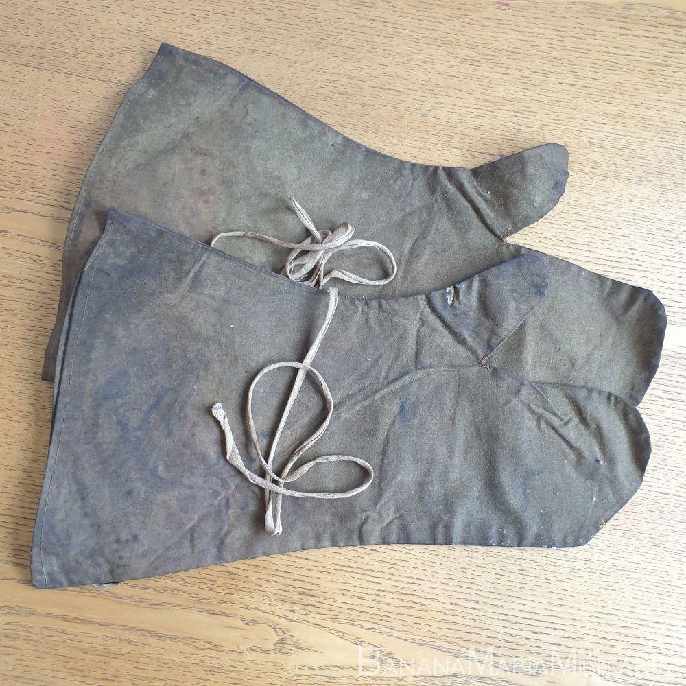 Rare British WW2 Anti gas Over gloves - Mittens