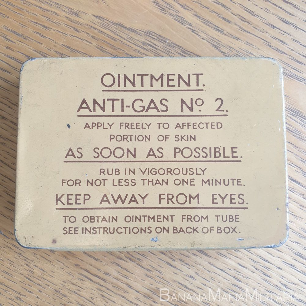 Ointment Anti-Gas Tin No2 1940 dated COMPLETE